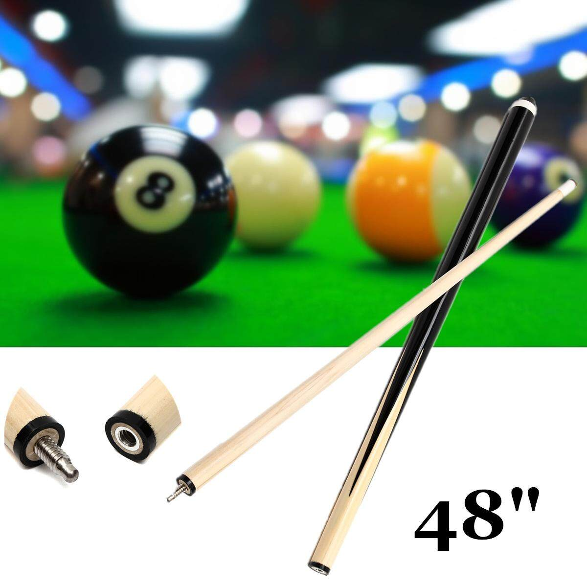 48'' 2-Piece Children Wood Jointed Snooker Pool Cue Stick For Billiards Sport