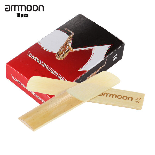 ammoon Saxophone Bamboo Reeds for Eb Alto Saxophone Sax Accessories 10-pack Pieces Strength 3.0 Malaysia