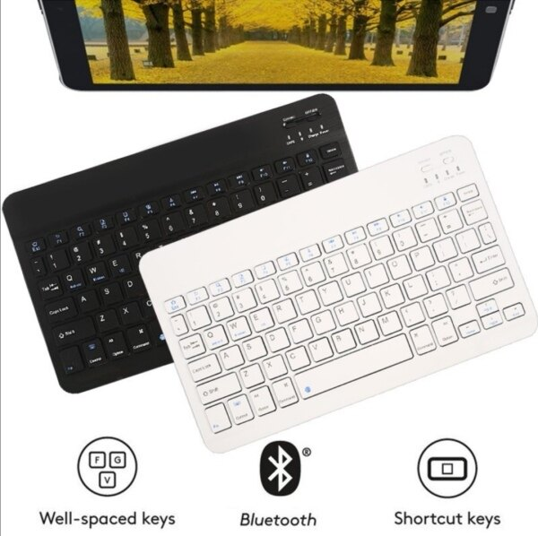 Slim Portable Mini Wireless Bluetooth Keyboard For Tablet Laptop Smartphone iPad Support IOS Android System Phone Universal Malaysia