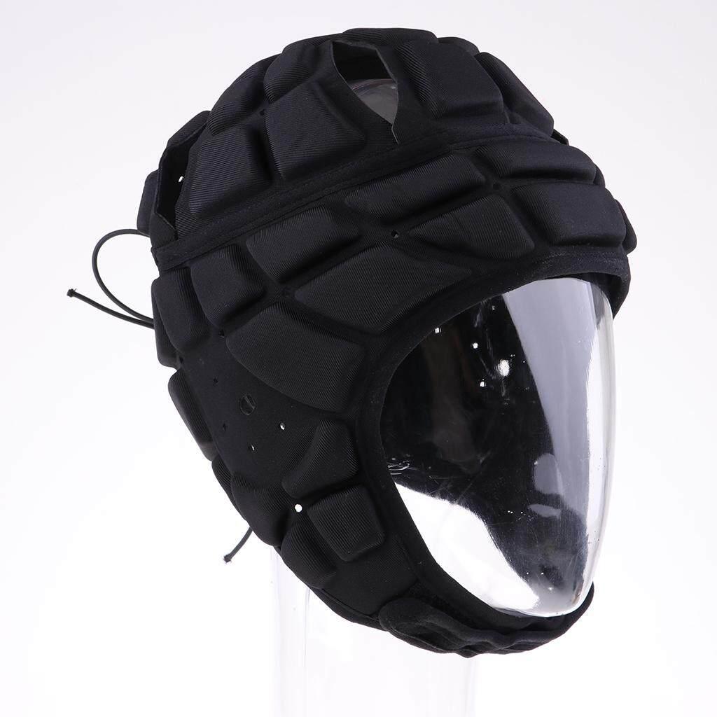 MagiDeal EVA Padded Head Protector Soccer Goalie Head Fall Protection Guard Black