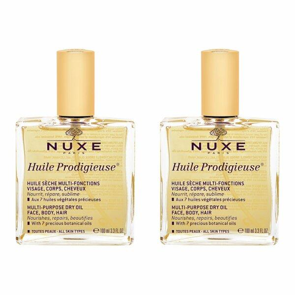 Buy 2 pcs Nuxe Huile Prodigieuse Multi-Usage Dry Oil (Face, Body and Hair) 3.3oz, 100ml - intl Singapore