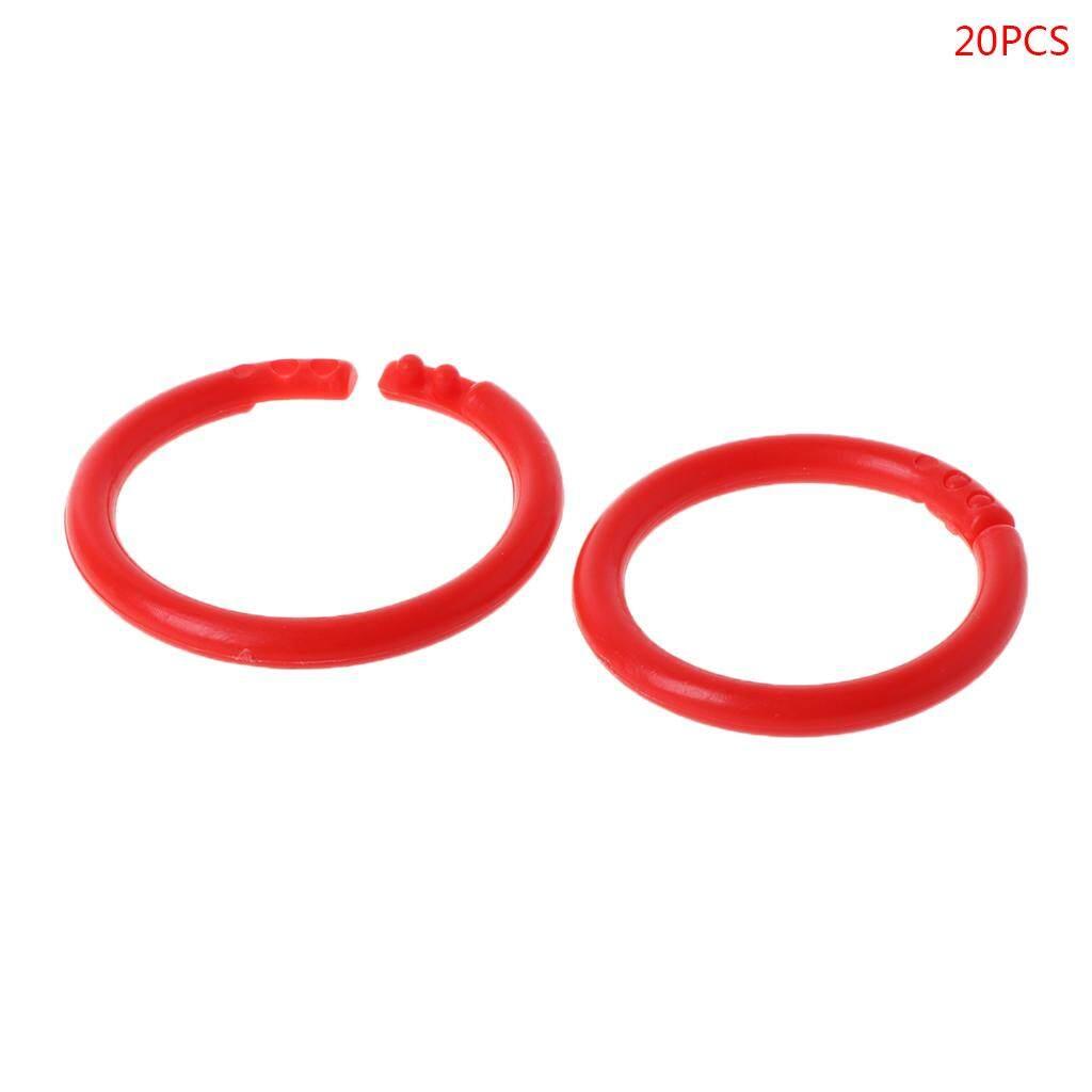 20PCS Creative Plastic Circle Multi-Functional Loose Leaf Ring Binder Hoop  For DIY Photo Scrapbook Album Book
