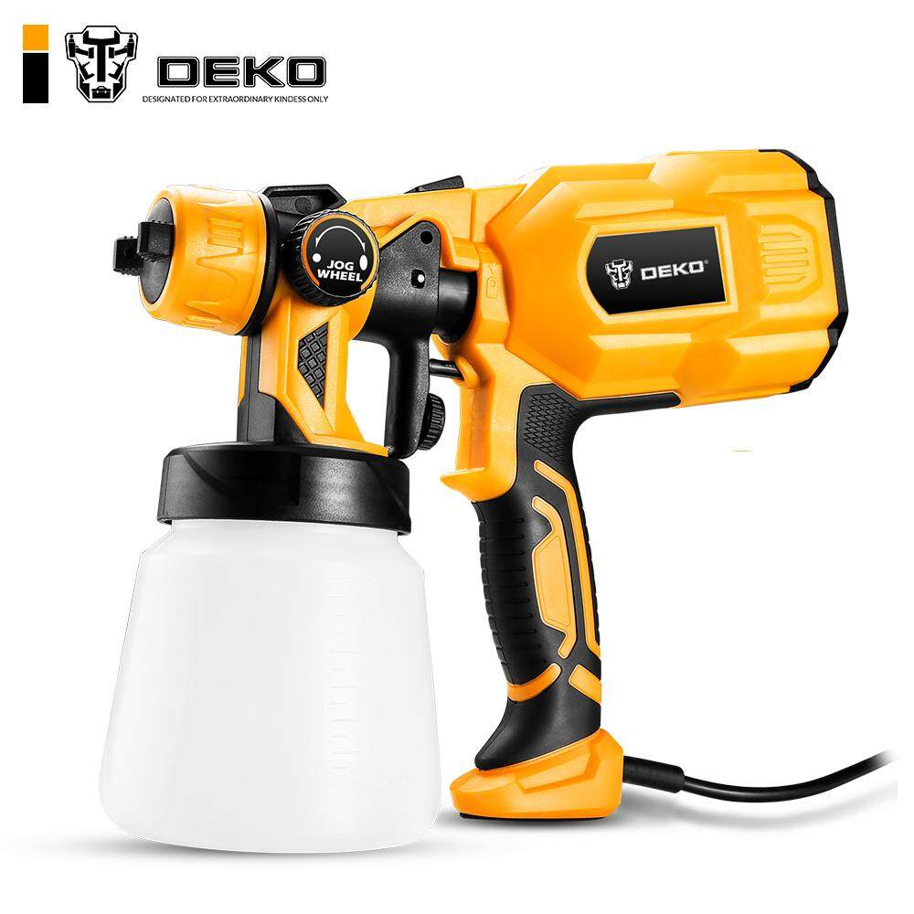 DEKO DKCX01 550W 220V High Power Home Electric Paint Sprayer, 3 Nozzle Easy Spraying and Clean Perfect for Beginner
