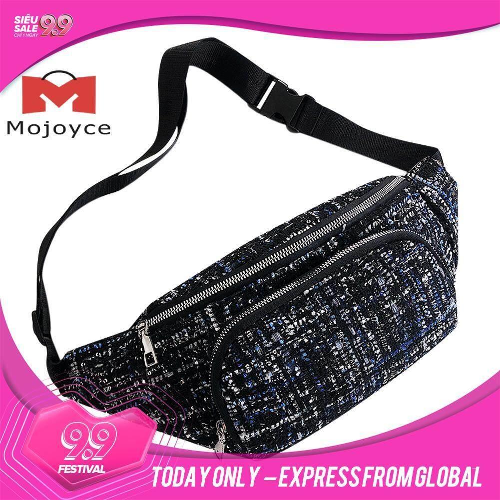 MOJOYCE Woolen Waist Bag Zipper Fanny Chest Phone Pack Women Small Crossbody Bags