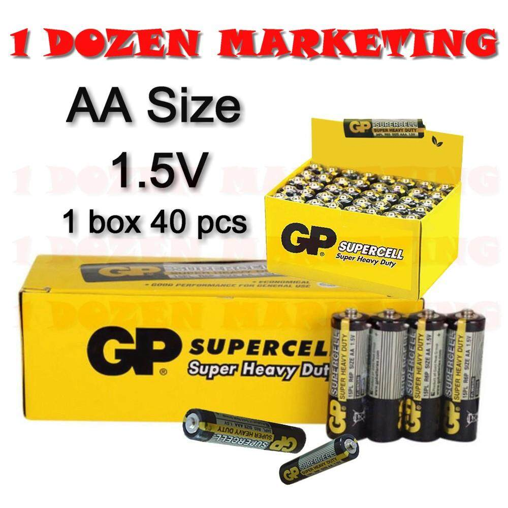 GP Super Cell Heavy Duty AA battery 40 Batteries Malaysia