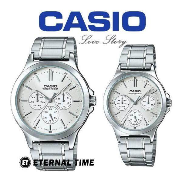 (2 YEARS WARRANTY) CASIO ORIGINAL MTP-V300D-7A & LTP-V300D-7A COUPLE WATCH (JAM TANGAN PASANGAN / WATCH FOR COUPLE / CASIO WATCH / JAM TANGAN CASIO) Malaysia