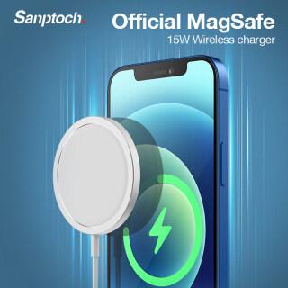 Sanptoch Sạc MagSafe Không Dây 15W Dành Cho iPhone 12 12 Pro 12 Pro Max 12 Mini Airpods Huawei Samsung Xiaomi Từ Nhanh Chóng Sạc thumbnail