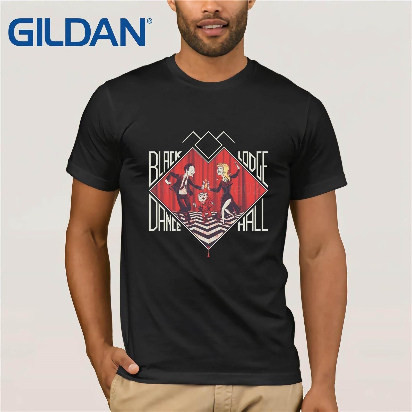 3b3b4c75 Twin Peaks Black Lodge Dance T-Shirt David Lynch Dale Cooper Men's Tee  Print T