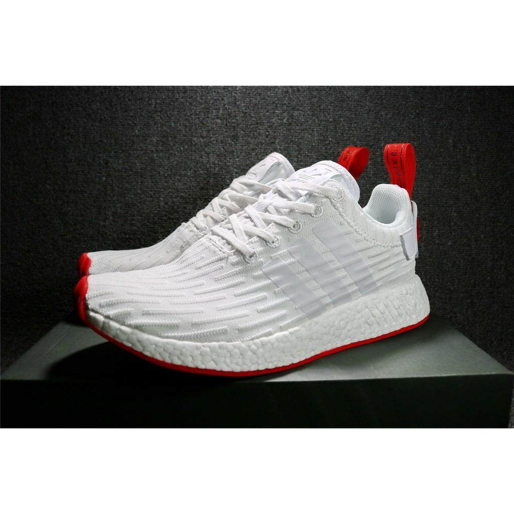 965a14b7c Adidas NMD R2 men and women white sports running sneakers casual shoes  BA7253