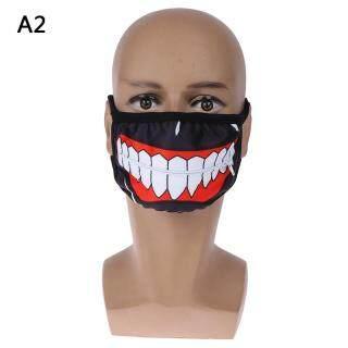 LVDVN 1Pc Cartoon face mask zipper cycling anti-dust anime tokyo ghoul cosplay masks thumbnail