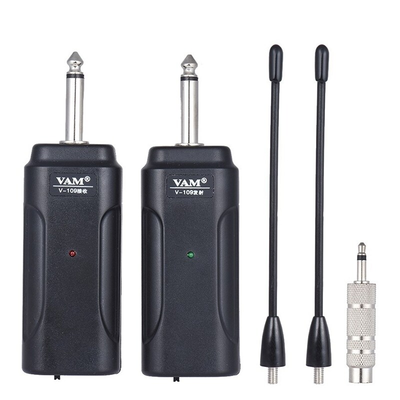 Portable Wireless Audio Guitar Transmitter Receiver System For Electric Guitar Bass Electric Violin Musical Instrument Wireless Receiver
