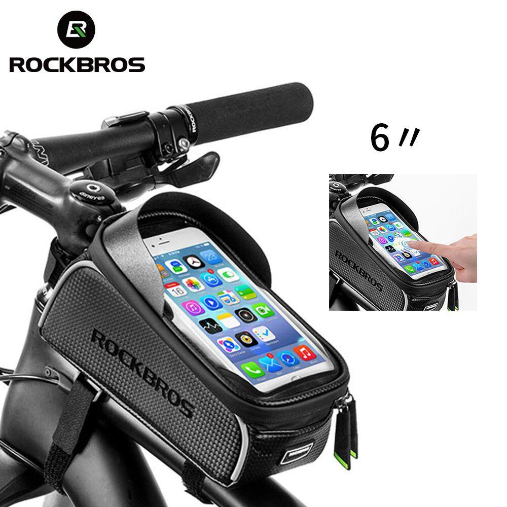 92680a72bc4 RockBros 6.0   Touchscreen MTB   Road Bike Waterproof Reflective Front Tube Cycling  Bag Phone