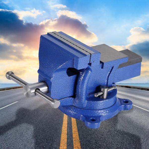 Bench Vise Heavy Duty Tabletop Clamp with Anvil Swivel Locking Base