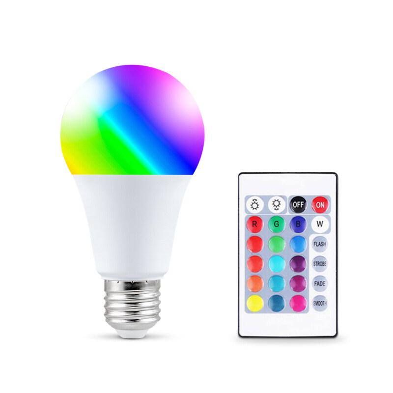 E27 Không Dây Dimmable RGB Bulb Đèn LED Đầy Màu Sắc Thông Minh Cho Chiếu Sáng Nhà