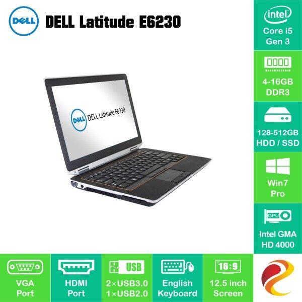 Refurbished i5 G3 Dell Latitude E6230 laptop PC 16GB 8GB 4GB RAM 128GB 256GB 512GB SSD notebook CPU komputer riba murah bajet Malaysia