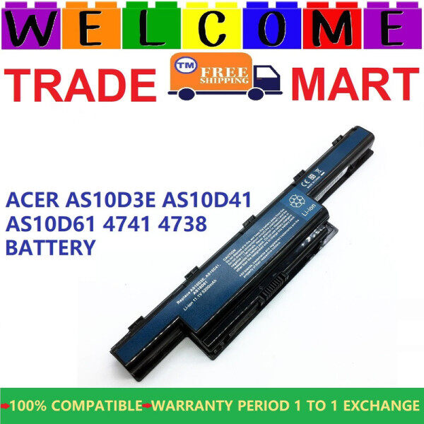ACER ASPIRE 5750G SERIES Laptop Battery / Acer AS10D41 AS10D71 4741 Battery Malaysia