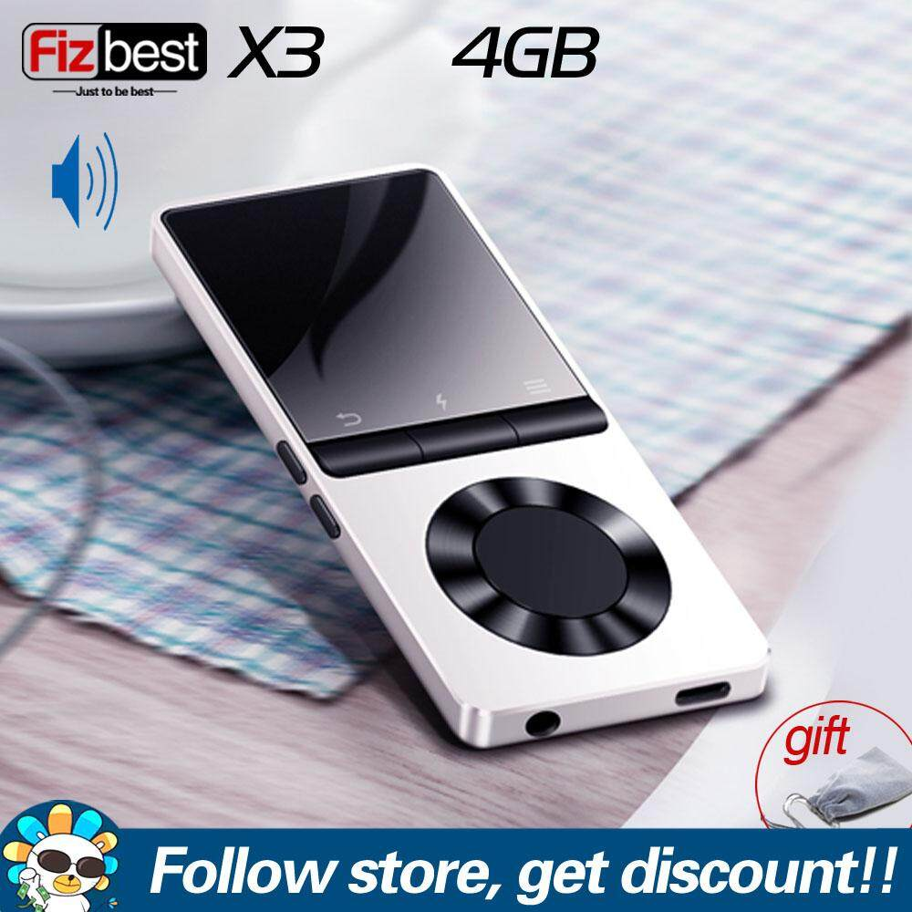BENJIE X3 Metal MP3 Player Bluetooth Portable Audio Player 4GB 8GB Lossless  Music Player With Built-in Speaker FM Radio,Recorder,E-Book,Clock Support