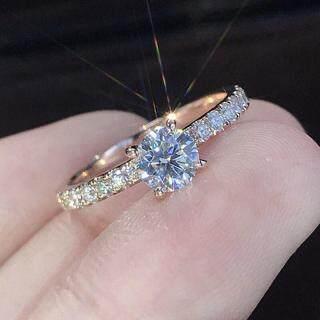 Nhẫn mới bằng hợp kim đính kim cương nhân tạo kích thước 6-10 dành cho phái nữ - INTL thumbnail