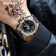 SANDA 739 Đồng hồ đeo tay thạch anh không thấm nước kiểu dáng sang trọng mang phong cách quân đội dành cho nam – INTL