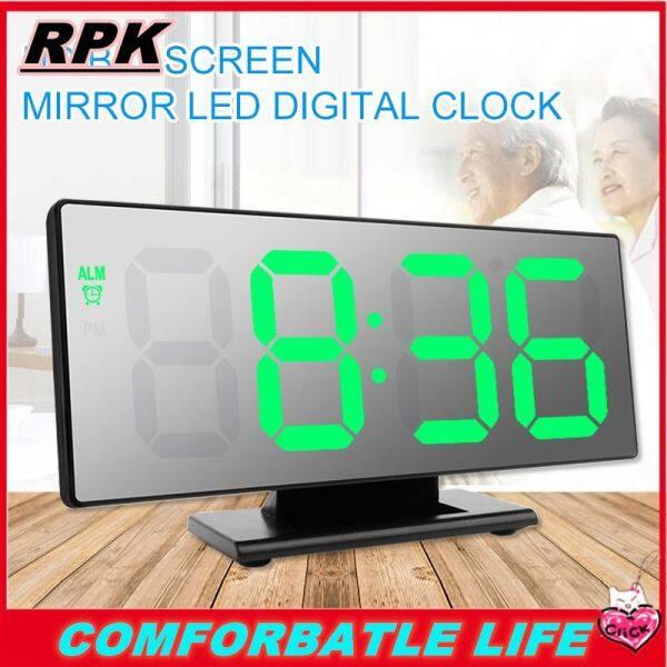 Nơi bán Rpk [[Cá Tuyết]] [[Miễn Phí Vận Chuyển] Nhất Selle Đồng Hồ Báo Thức Kỹ Thuật Số Đèn LED Đồng Hồ Đa Chức Năng Gương Báo Lại màn Hình Hiển Thị Thời Gian Ban Đêm LCD Đèn Bàn Máy Tính Để Bàn