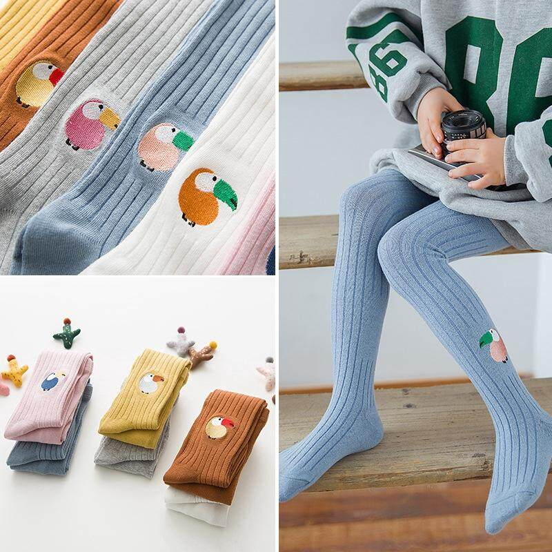 a0abc874f Cute 1-12Years Girl Autumn Winter Cotton Embroidery Kids Socks Pantyhose