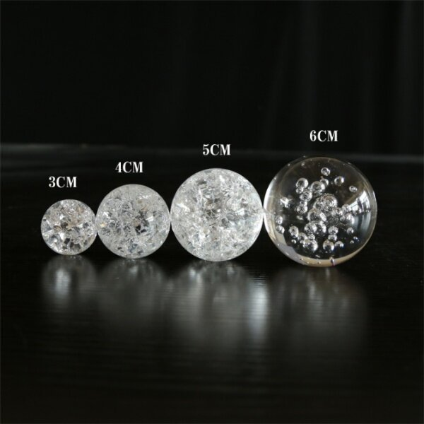 5 CM WATER FOUNTAIN CRYSTAL GLASS BALL (CRACK / BUBBLE) DESIGN FEATURE ACCESSORIES