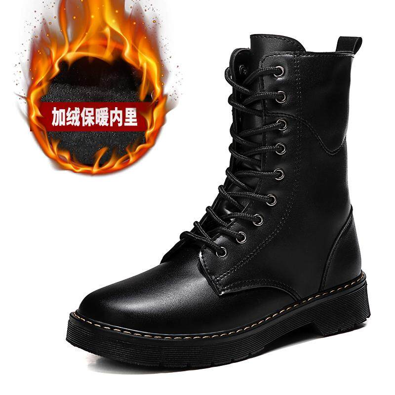 bd89f1f2af271 2019 New Boots Shoes Snow Winter Genuine Leather Warm Fashion Motorcycle  Boot for Men and women