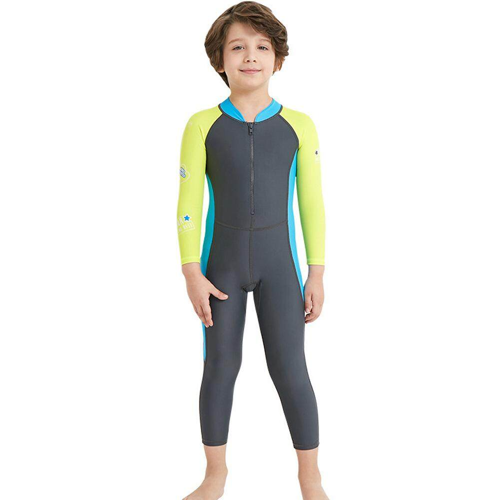 b73e426eb130 One Piece Colorful UV Protection Quick Drying For Diving Long Sleeve Swimwear  Underwater Activities Kids Wetsuit
