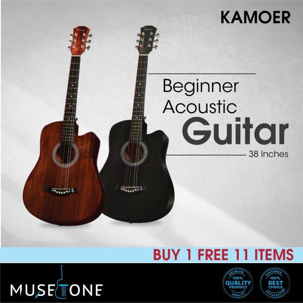 Kamoer 38 Acoustic Guitar Starter Pack Buy 1 free 11 best for beginner Malaysia