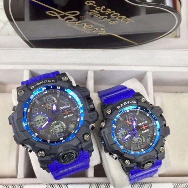 New Sports Casio_G_SHOCK_Couple Set Dual Time Display Fashion Casual Watches For Man And Woman Malaysia