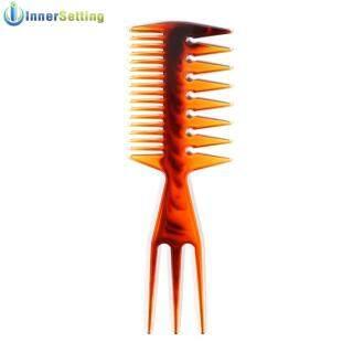 Rộng Răng Lược Chải Tóc Lược 2 Mặt Hổ Phách Tóc Chọn Salon Dụng Cụ Tạo Kiểu Tóc thumbnail