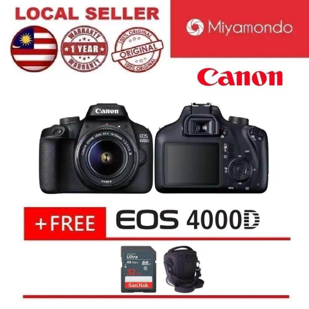 Canon EOS 4000D DSLR Camera With 18-55mm Lens + 32GB + Bag