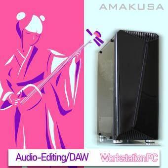 [Workstation PC] AMAKUSA Pre-build System Kasha Lv.1 Audio Editing / DAW / Recording / Mixing / Composing - Intel Core i3 8100 8GB DDR4 RAM UHD 630 120GB SSD Seagate 1 TB HDD Windows 10 Pro 64bit USB3.1 Asrock H310M HDV HDMI Matx RGB Case 450W 80 Plus PSU