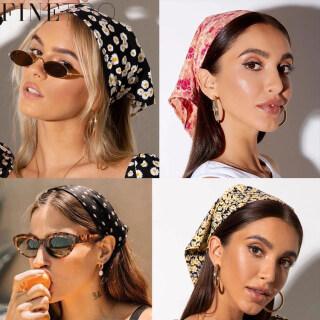 FINE TOO Fashion Retro Floral Creative Headband Elegant Colorful Scrunchies Headdress Women Hair Accessories thumbnail