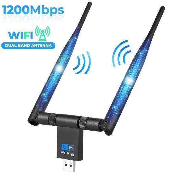 Bảng giá Bộ Chuyển Đổi Dongle USB 1200Mbps 5Ghz 2.4Ghz USB Băng Tần Kép RTL8811AU Bộ Chuyển Đổi Mạng LAN Wifi Cho Windows Mac Máy Tính Để Bàn/Máy Tính Xách Tay/PC Phong Vũ