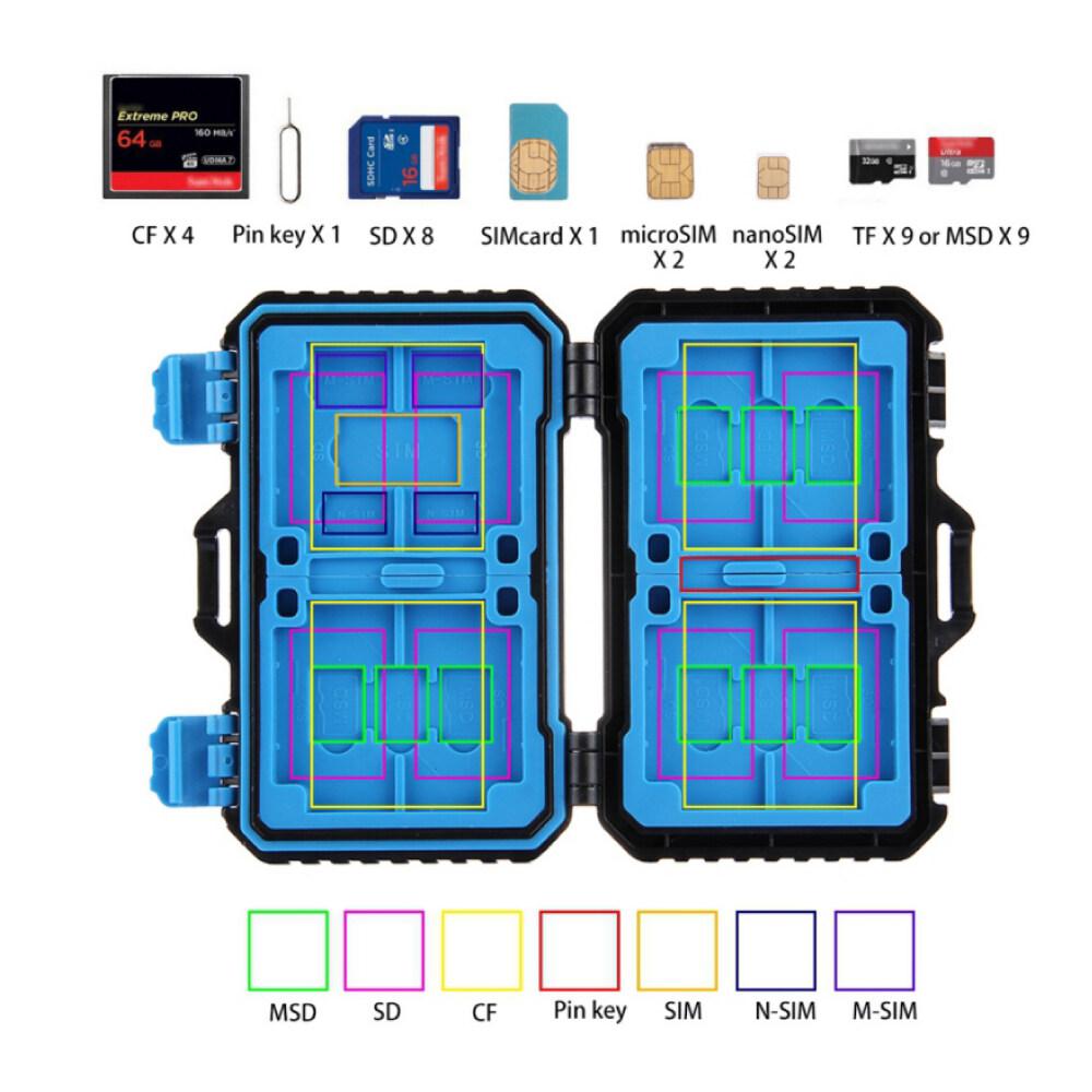 Giá Đầu Đọc Thẻ + 22 Trong 1 Thẻ Nhớ Dành Cho 1 Tiêu Chuẩn Sim + 2Micro-SIM + 2Nano-SIM + 3CF + 7SD + 6TF + 1 Thẻ Pin