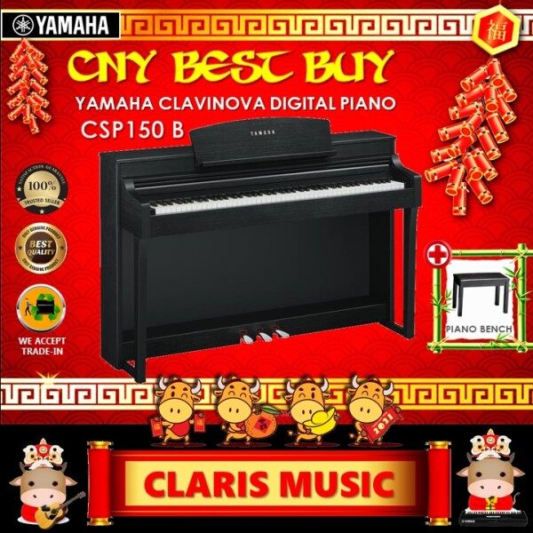 YAMAHA CLAVINOVA DIGITAL PIANO (MODEL: CSP150 B) OPEN UNIT! Malaysia
