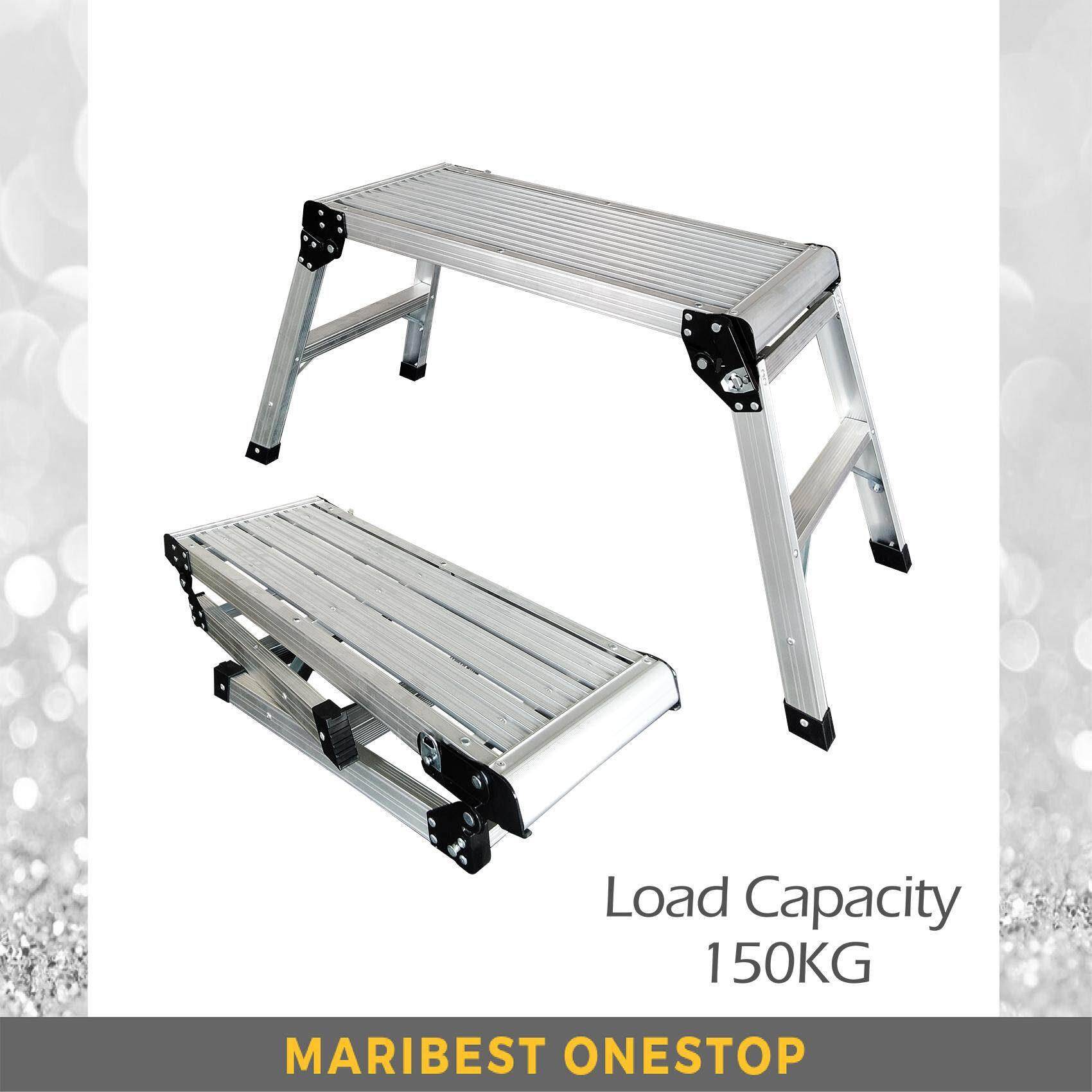770MM Aluminium Foldable Bench Step Ladder With Walking Platform