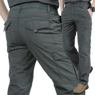 Quần dài nhiều túi khô nhanh cho nam hoạt động ngoài trời đi bộ đường dài leo núi - INTL thumbnail