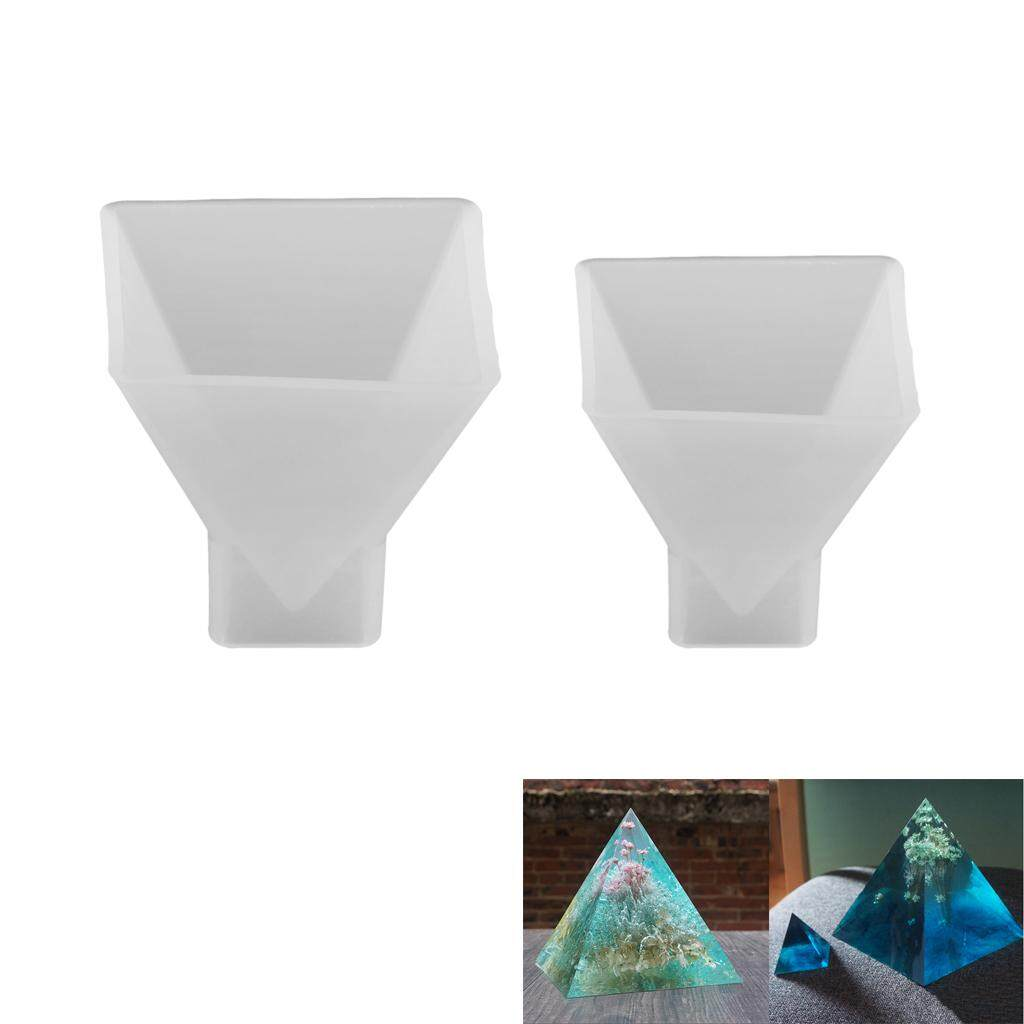 Bolehdeals 2 Size Pyramid Soap Candle Jewelry Craft Making Silicone Casting Mold Diy By Bolehdeals.