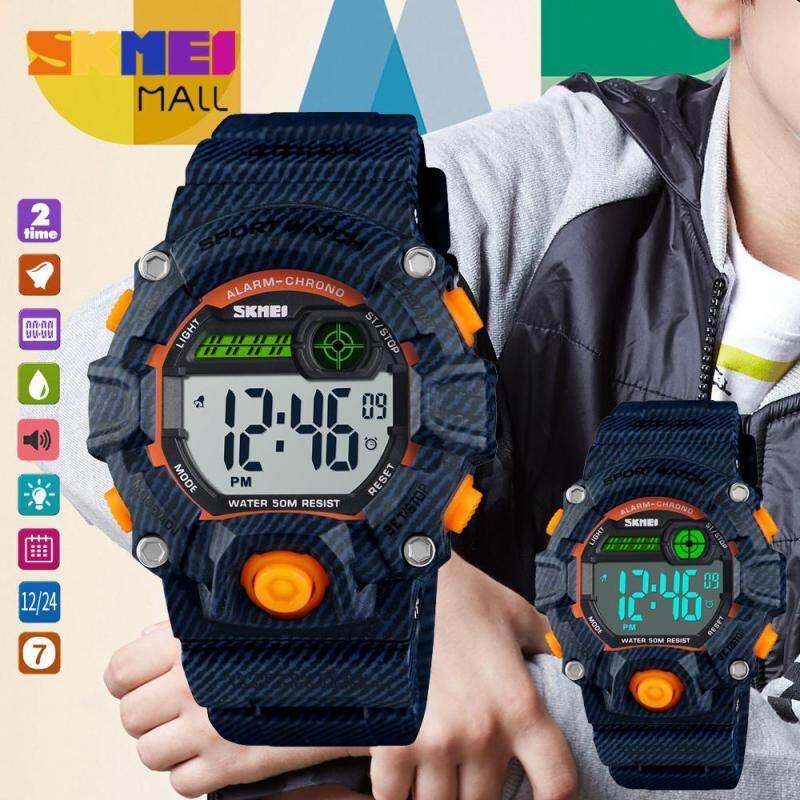 Nơi bán SKMEI 1484 Dual Time Boy Đồng Hồ Thể Thao Ngoài Trời Cô Gái Đồng Hồ Đeo Tay Kỹ Thuật Số 50M Báo Thức Chống Nước Chức Năng Bấm Giờ Xem Lịch Đồng Hồ 12/24 Giờ