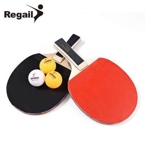 Bảng giá 1 Cặp REGAIL A508 Bảng Tennis Vợt Bóng Bàn Mặt Vợt + 3 Quả Bóng