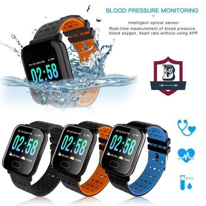 Smart Watch A6 Sport Bracelet Bluetooth Waterproof Watch For Android IPhone Malaysia