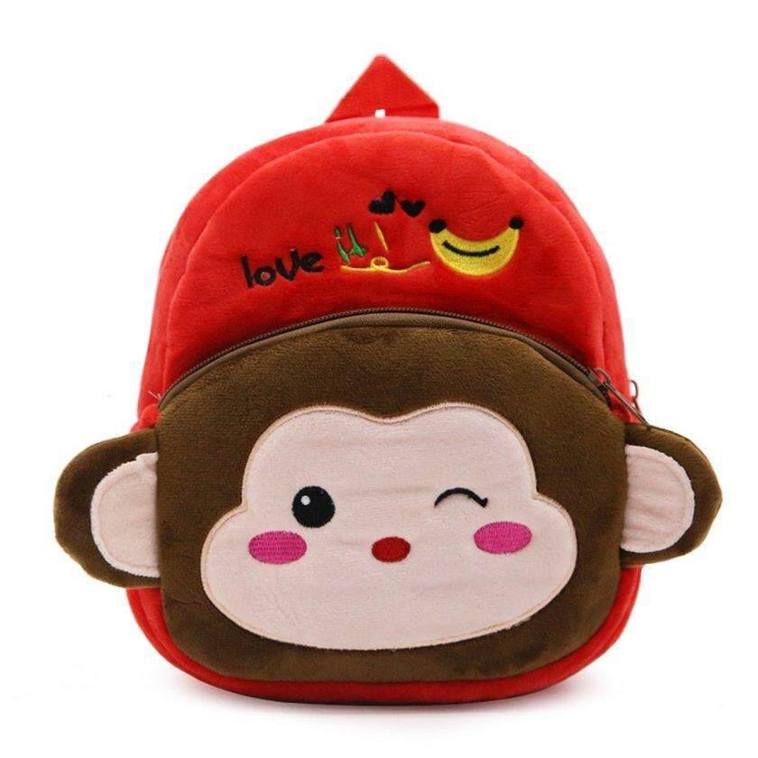 LALOVE Cartoon Kids Boys Girls Plush Backpacks Baby Cute Children School  Bags a5ac5bae6cba6