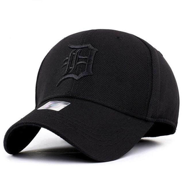 c30fc6e8d Spandex Elastic Fitted Hats Sunscreen Baseball Cap Men or Women Sport Hat  circumference 58~59CM (Black)