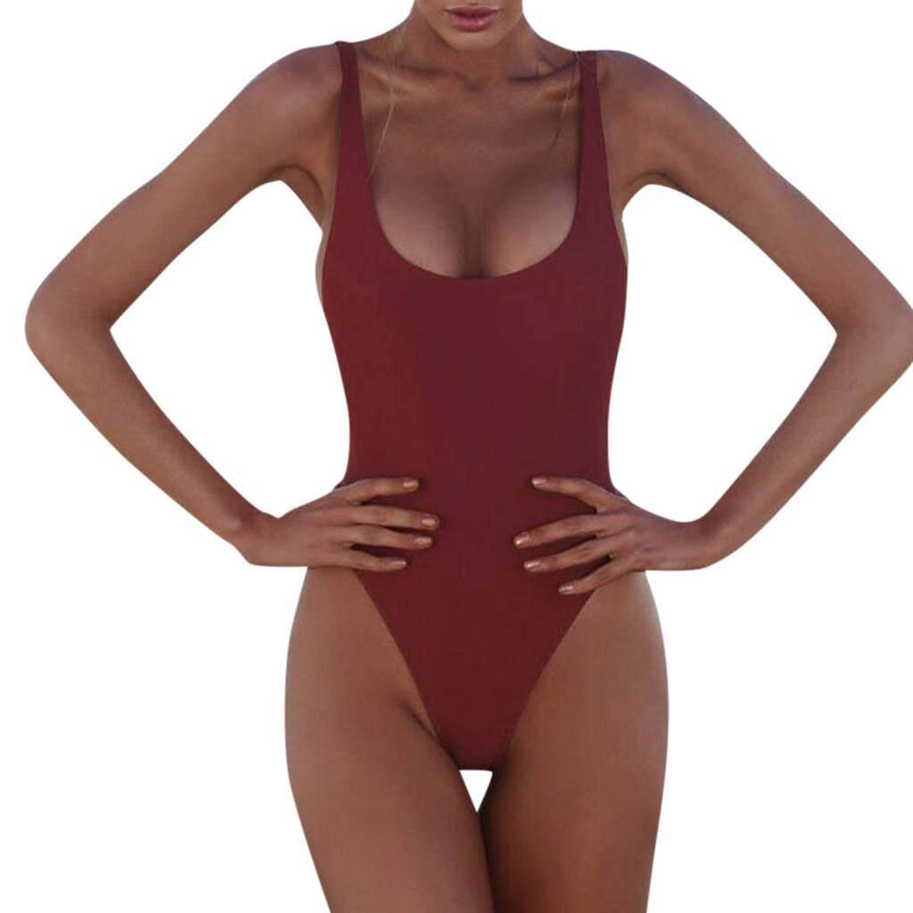 Women's Swimming Suit Sexy Bikini 2019 Swimsuit Womens Pad Bikini Swimming Costume Backless One Piece Swimsuit Monokini Swimwear