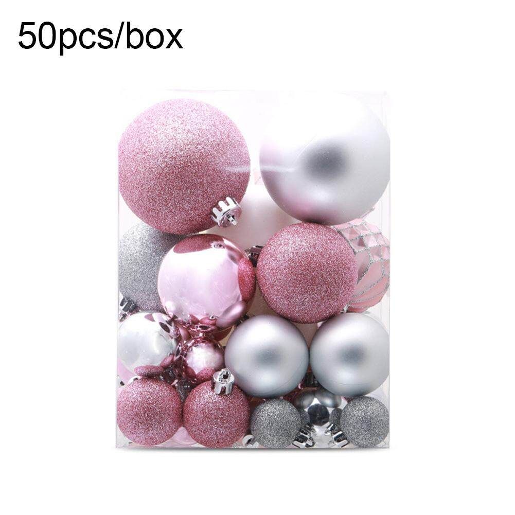 Laputa 50Pcs/Set Christmas Tree Ball Bauble Xmas Party Wedding Decor Hanging Ornaments