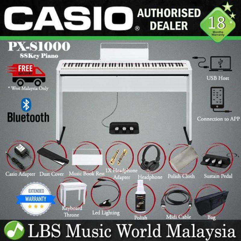 Casio PX-S1000 88 Keys Digital Piano White Keyboard Full Package Electric (PXS1000 / PX1000) Malaysia