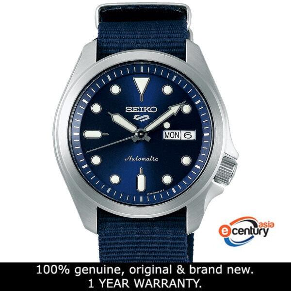 Seiko 5 Sports SRPE63K1 Gents Automatic Street Style Day-Date 100M Blue Nylon Strap Watch Malaysia