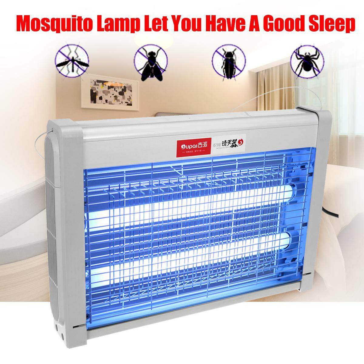 220V 20W Insect Killer Electric Mosquito Fly Bug Insect Zapper Trap Catcher Lamp